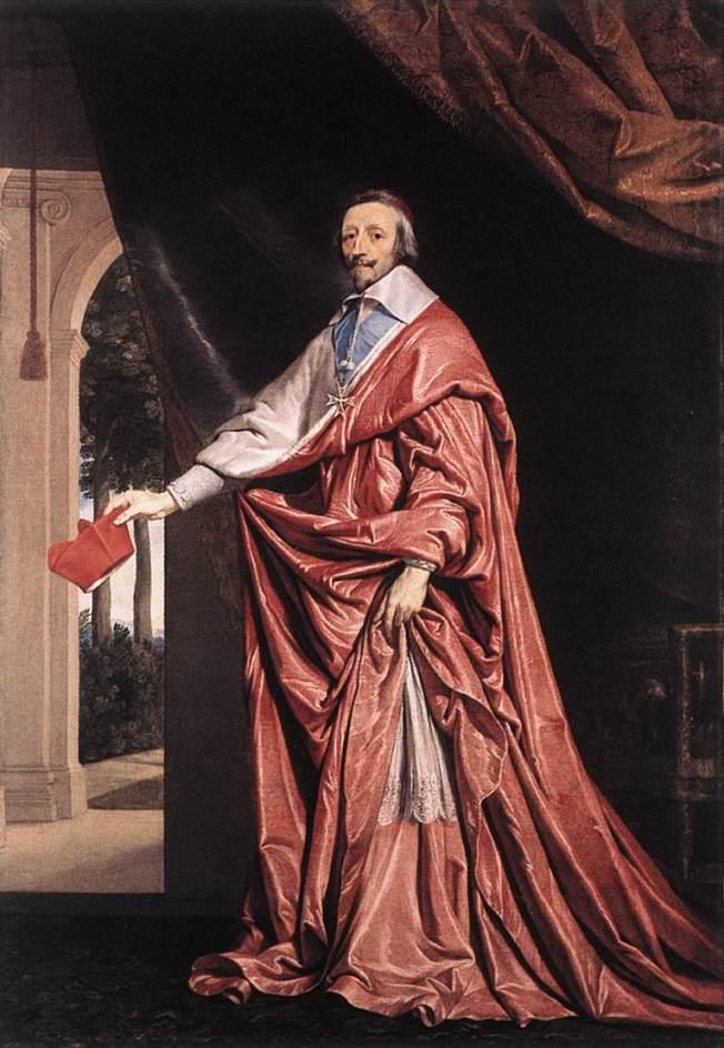 El cardenal Richelieu por Philippe De Champaigne