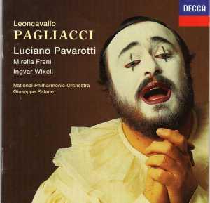 Caratula de la ópera I Pagliacci editada por Decca