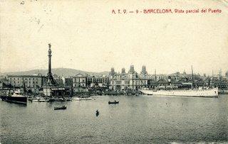 El vapor Miramar en el puerto de Barcelona