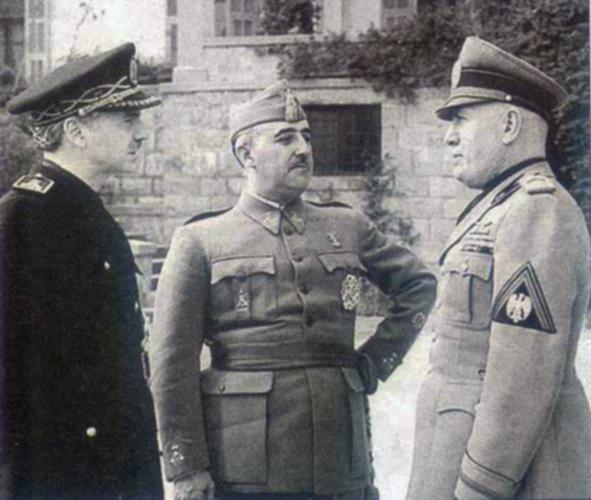 Serrano, Franco y Mussolini. Los paladines de la libertad reunidos...
