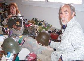 El arqueólogo M.Aznar y su mujer Pepi