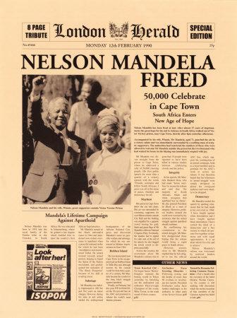 Mandela en libertad.