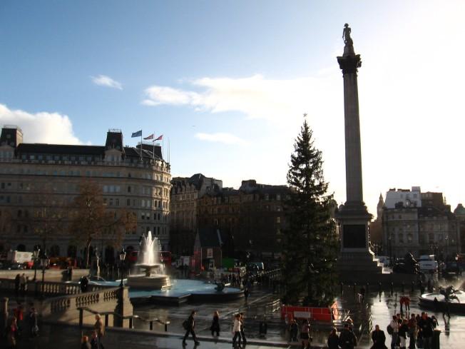 Trafalgar Square y el monumento al Almirante Nelson