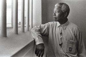 Mandela poco antes de su liberación.