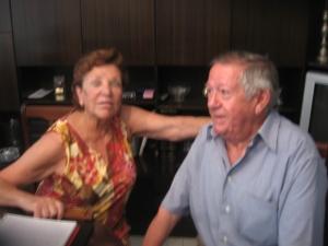 Aunque la foto no hace justicia en calidad, no podíamos dejar de editar la misma, como homenaje a esta encantadora pareja que nos abrió su casa y su corazón. Pilar y Manolo.