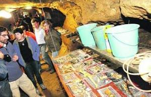 Restos de fauna localizada en una de las entradas de la caverna. lópez de arenosa