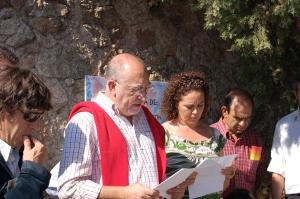Paco Tena nos regaló un sensible y precioso poema dedicado a los homenajeados...