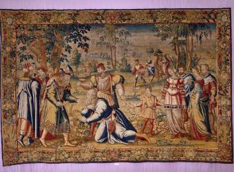 Escena de la vida de Jacob. Tapiz del siglo XVI. Colección Selgas-Fagalde.- REAL FÁBRICA DE TAPICES