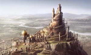 Figuración de la fortaleza del ALAMUT