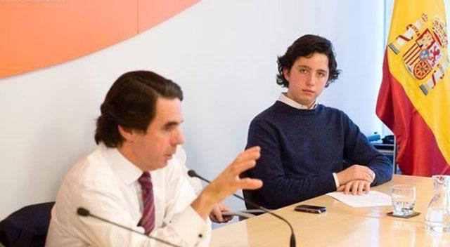 El Pequeño Nicolás con ex Presidente J.M. Aznar