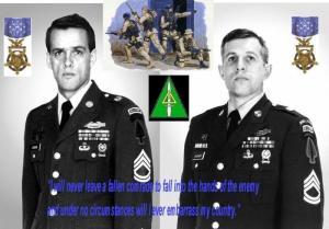 Los sargentos Delta Force, Gary I. Gordon y Randa D. Shughart la medalla de honor del congreso de forma póstuma.