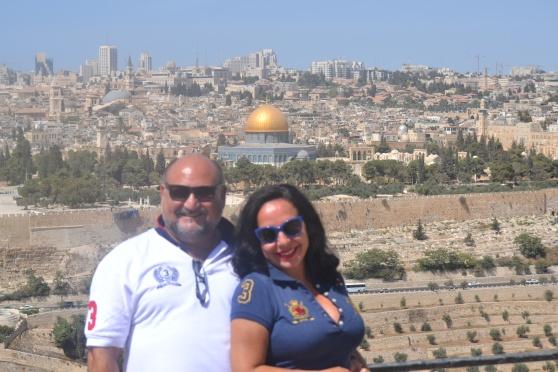 Con mi mujer Tuñy Barcala en Jerusalén Sept.2015