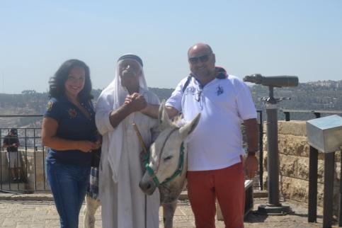 Con nuestro amigo palestino Mohamed Yusuf en Jerusalén