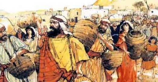 Escena del pueblo de Israel. Extraída de Bendiciones Cristianas: Hebreos 13: Las evidencias de la vida cristiana