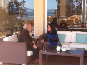 Dos momentos de la entrevista